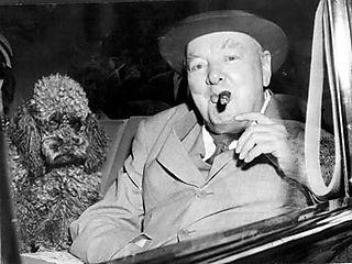 Winston Churchill e il suo barbone Rufus...non vi era alcuna somiglianza fisica, ma un grande feeling sul piano caratteriale.
