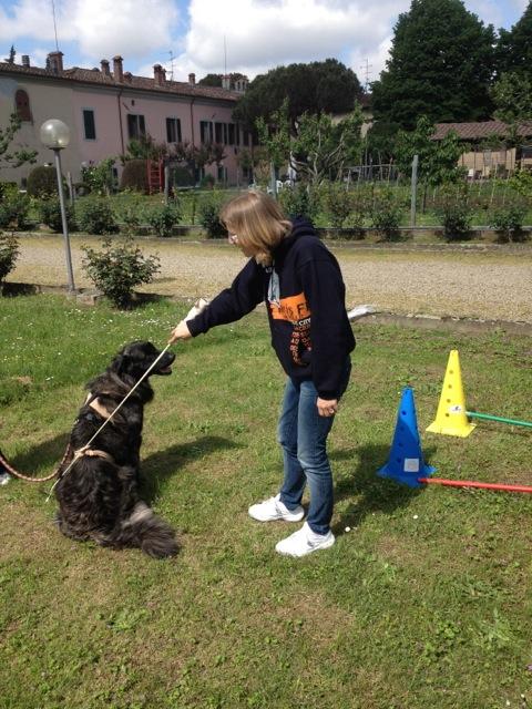 Valeria Boissier, responsabile italiana per il TTouch e coordinatore tecnico di TTouch per FederCinofilia
