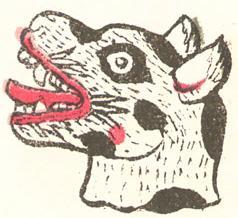 Il simbolo azteco del giorno Itzcuintli (cane) tratto dal Codice Magliabechiano del XVI secolo